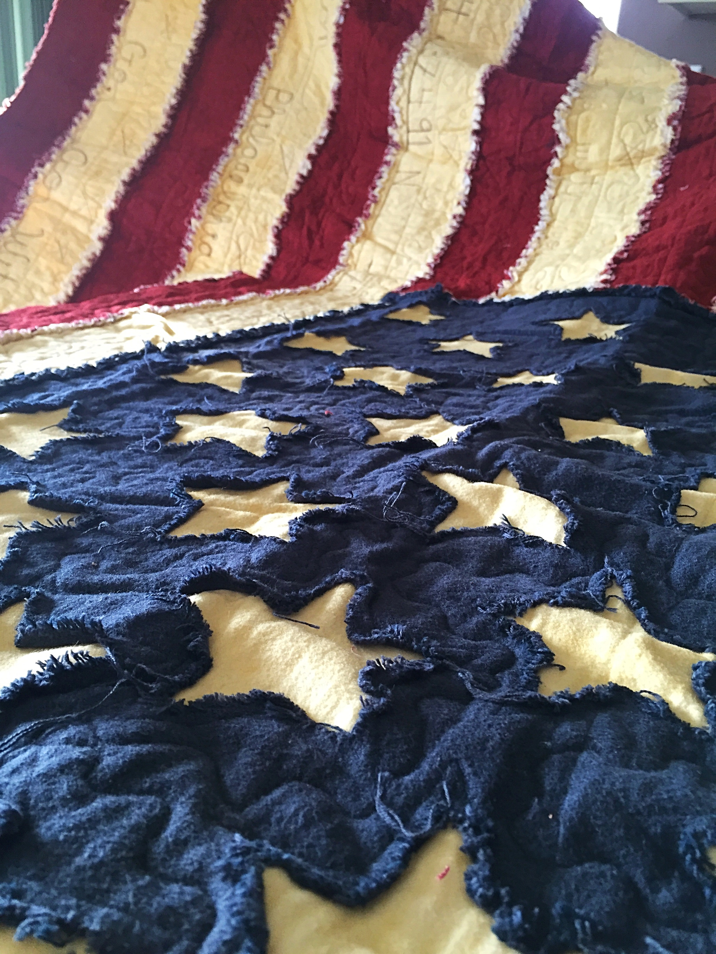 Dove Way's Custom American Flag Quilt : american flag quilt - Adamdwight.com